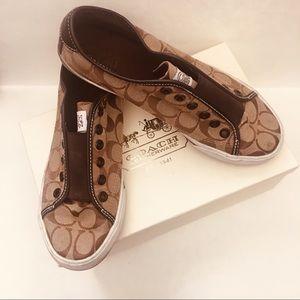 💯COACH Slip On Mens Shoes 👟